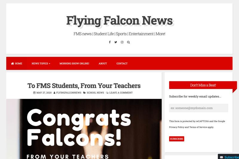 Screenshot of homepage of FarnellNews.com.