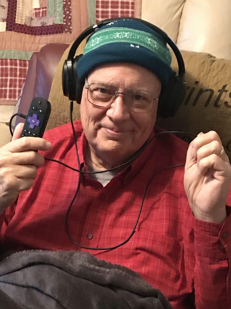 Daniel Hopkins enjoys Roku headphones (January, 2019)